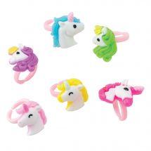 Plastic Unicorn Rings