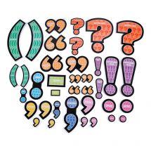 Jumbo Punctuation Mark Magnets Set