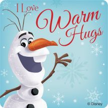 Frozen Winter Hugs Stickers