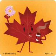 Maple Leaf Characters Stickers