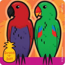 Tropical Scented Birds Stickers