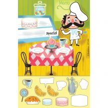 Café Sweets Sticker Play Scenes