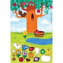 Under the Apple Tree Sticker Play Scenes