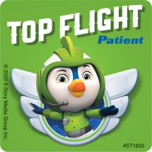 Top Wing Patient Stickers