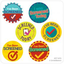 I've Been Screened Mini Dot Stickers