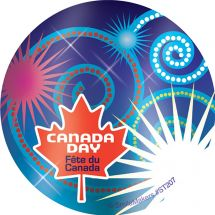 FOIL HAPPY CANADA DAY STICKERS