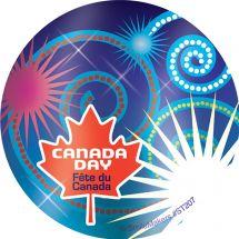FOIL HAPPY CANADA DAY STICKERS