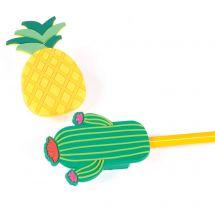 Pineapple & Cactus Pencil Sharpeners
