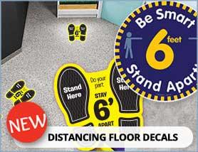 Distance Floor Decals