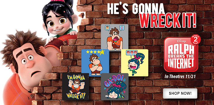 Ralph Breaks the Internet Stickers are Here!