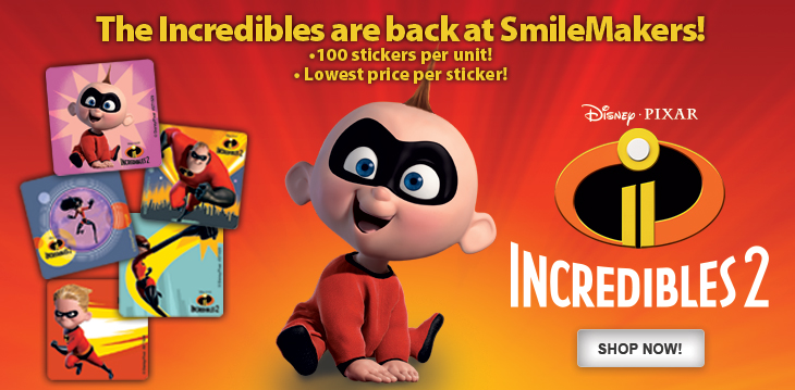 The Incredibles 2 stickers are here!