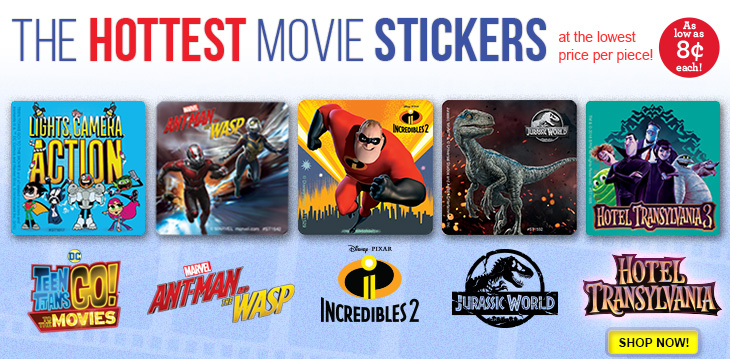 Hot NEW Movie Stickers