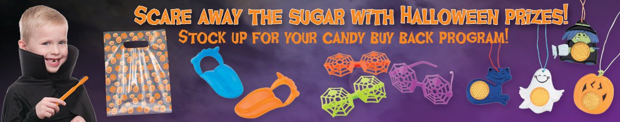 Scare away the sugar with Halloween prizes!