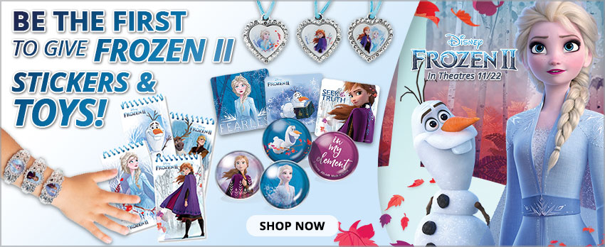 Be the first to give Frozen II stickers and toys!