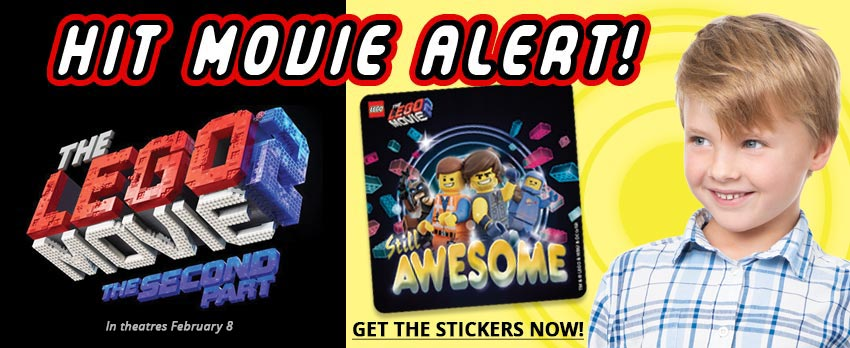 Hit Movie Month! Lego Movie 2 Stickers