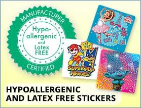 Hypoallergenic & Latex Free Stickers