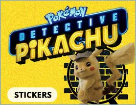 Detective Pikachu Stickers and Bandages