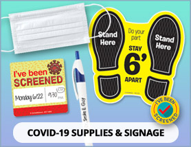COVID-19 Supplies & Signage