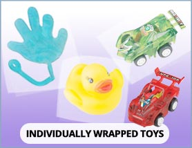 Individually-Wrapped Toys