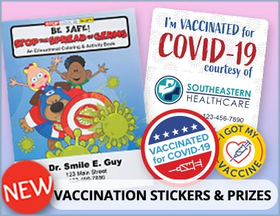 Vaccination Stickers and Prizes